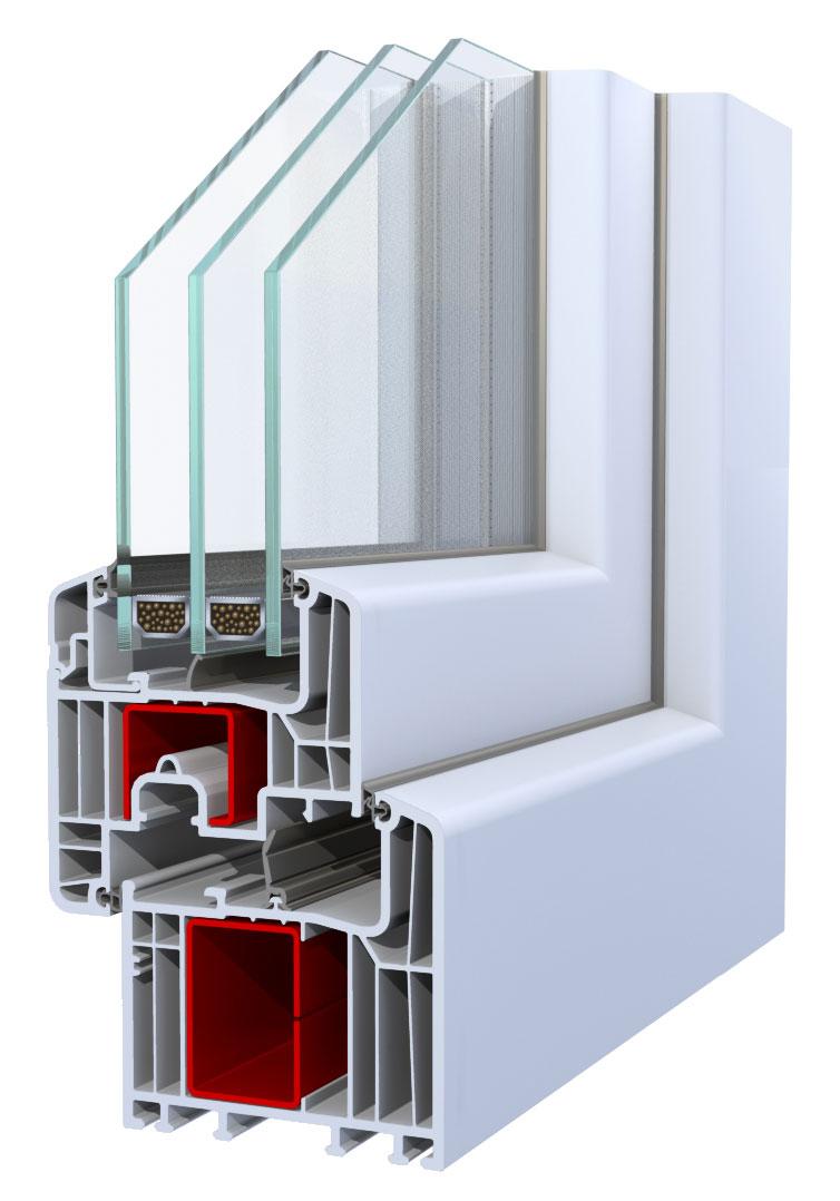pvc okna inoutic pvc okno eforte. Black Bedroom Furniture Sets. Home Design Ideas
